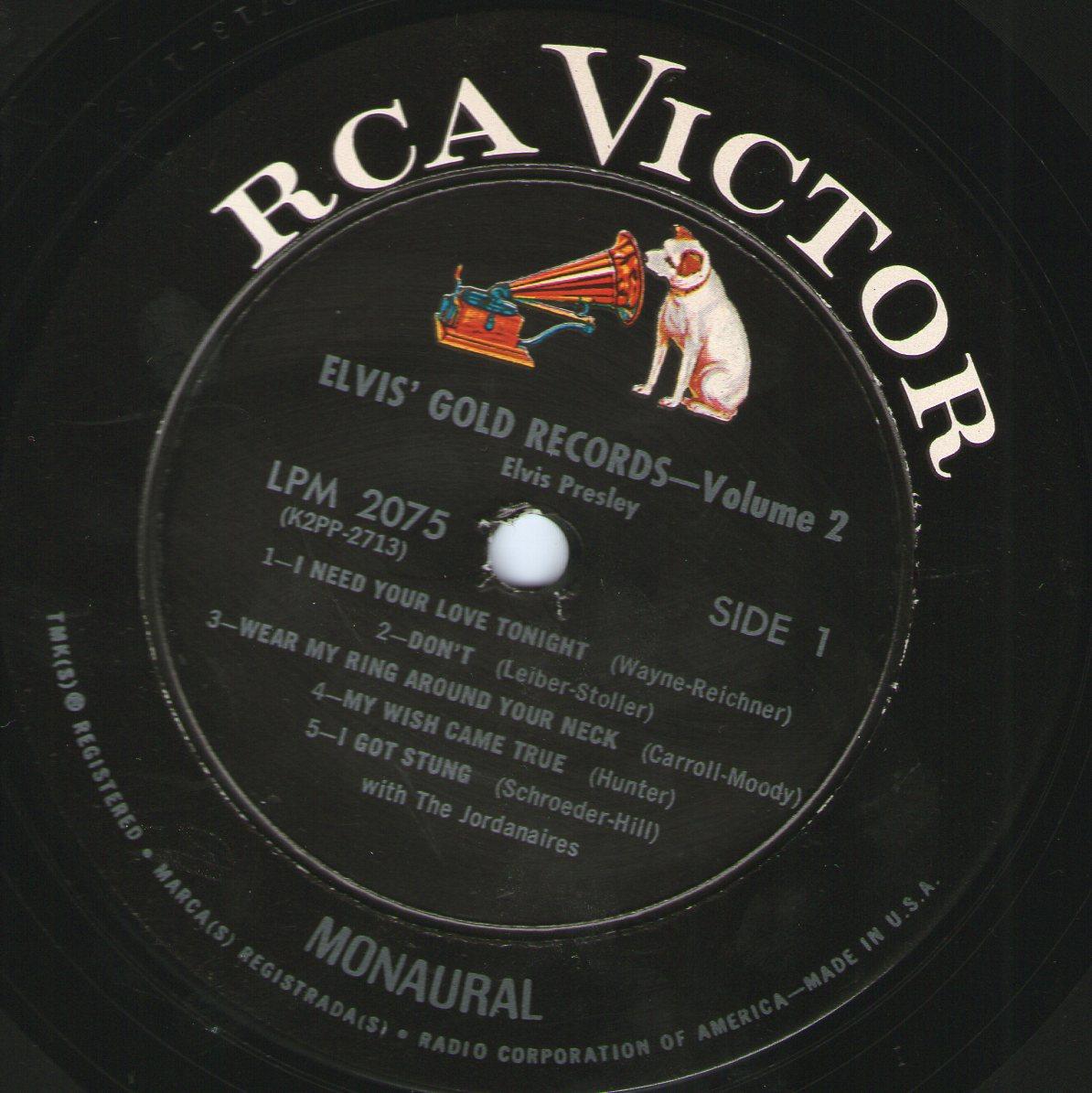 ELVIS' GOLD RECORDS VOL 2 Img210vkf5j