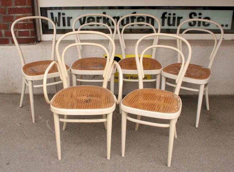 6x thonet bugholzstuhl stuhl st hle no 14 3467 1 1 ebay. Black Bedroom Furniture Sets. Home Design Ideas