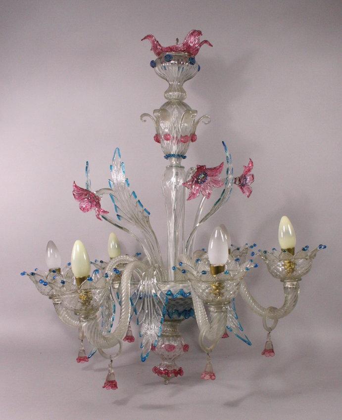 l ster lampe kronleuchter murano glas 6 flammig 3125 2 ebay. Black Bedroom Furniture Sets. Home Design Ideas