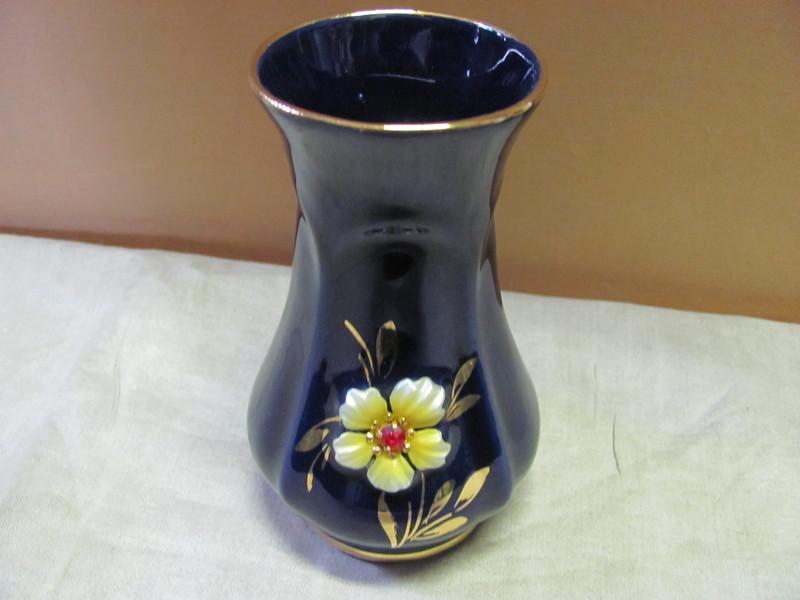 vase echt kobalt handarbeit ebay. Black Bedroom Furniture Sets. Home Design Ideas