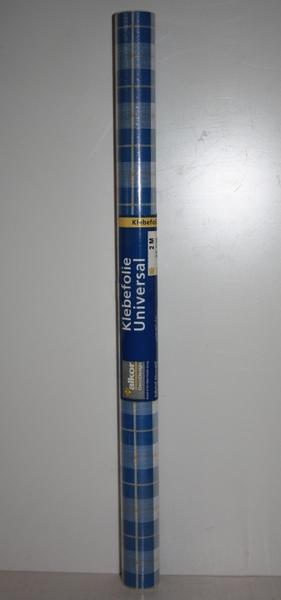 Alkor deco design klebefolie dekor 200x45 cm blau wei for Klebefolie blau