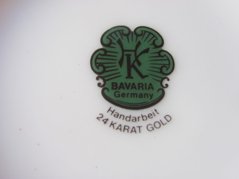 Hk bavaria germany handarbeit 24 karat gold