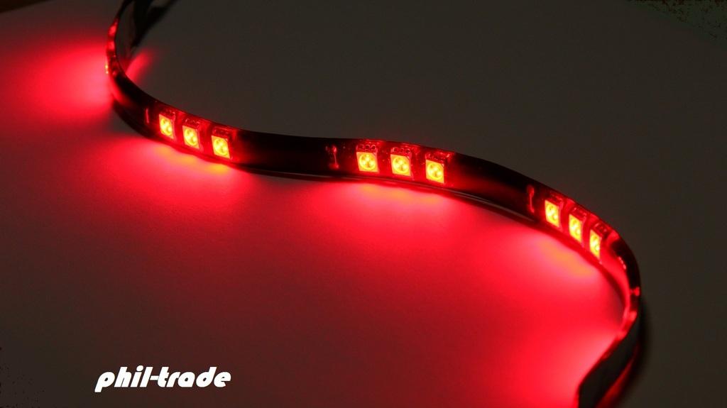 rote led leiste balken strip lichtleiste 12v 30cm 15x 5050 smd selbstklebend rot ebay. Black Bedroom Furniture Sets. Home Design Ideas