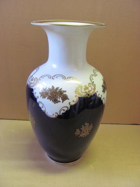vase echt kobalt reichenbach porzellan ebay. Black Bedroom Furniture Sets. Home Design Ideas