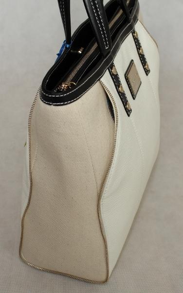 luxus tasche versace jeans shopper weiss beige handtasche. Black Bedroom Furniture Sets. Home Design Ideas