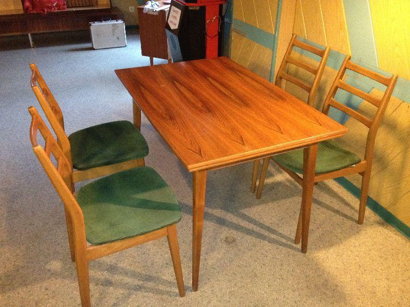 70er jahre casala sitzgruppe 4 st hle tisch danish. Black Bedroom Furniture Sets. Home Design Ideas
