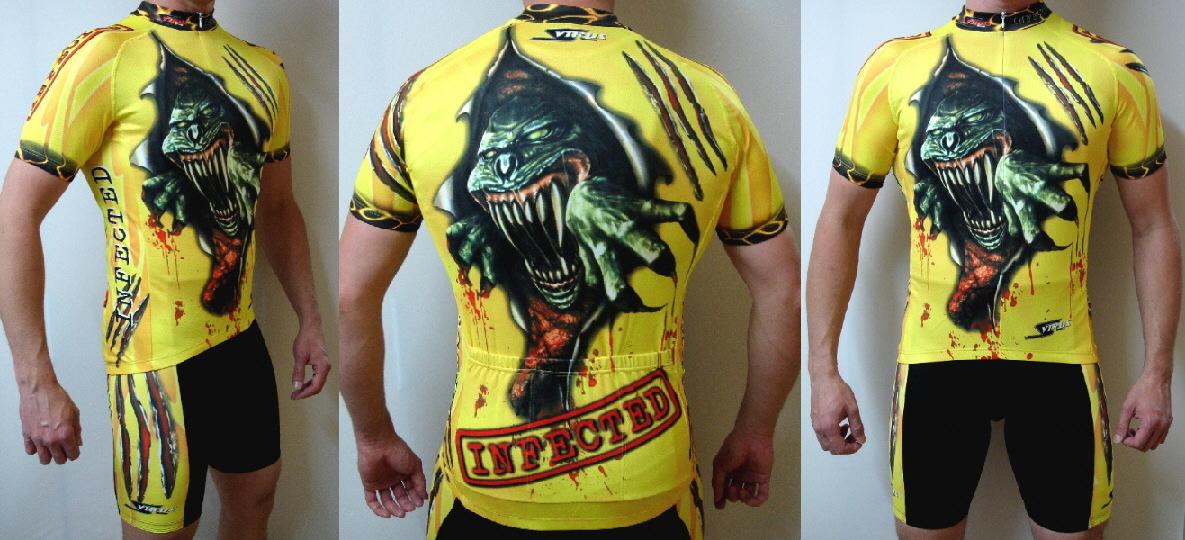 infected rennrad trikot radtrikot fahrrad shirt gelb. Black Bedroom Furniture Sets. Home Design Ideas