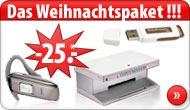 KOMPLETT-KOSTENLOS: Weihnachtspaket + 25€ BAR