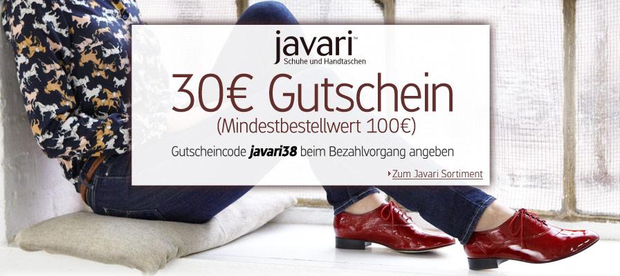 Javari: 30€ Gutschein für Schuhe und Taschen bei amazon Tocher javari - 100€ Bestellwert!