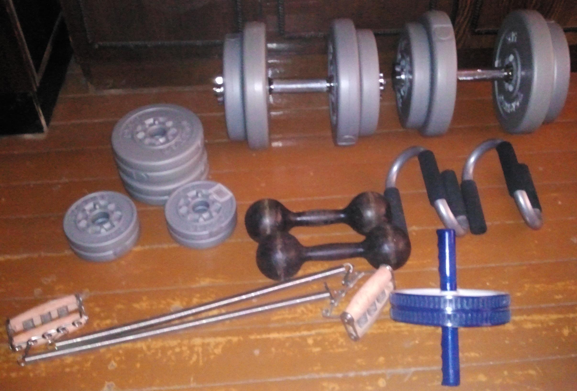 Инвентарь для тренировок в домашних условиях
