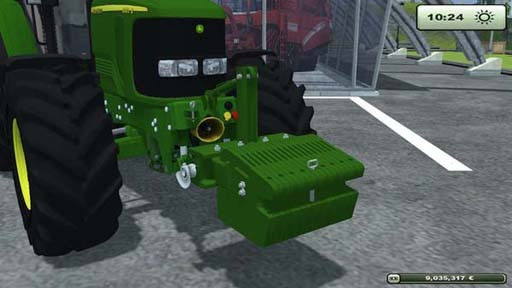 John Deere 900 kg weight v 1.0 [MP]
