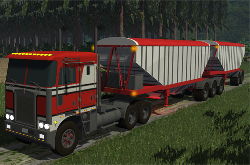 Kenworth K100 & Doepker trailers