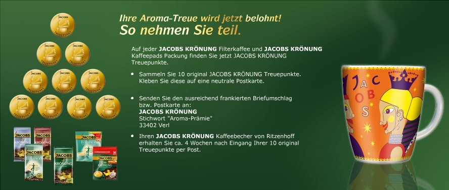 Ritzenhoff Kaffeebecher umsonst von Jacobs