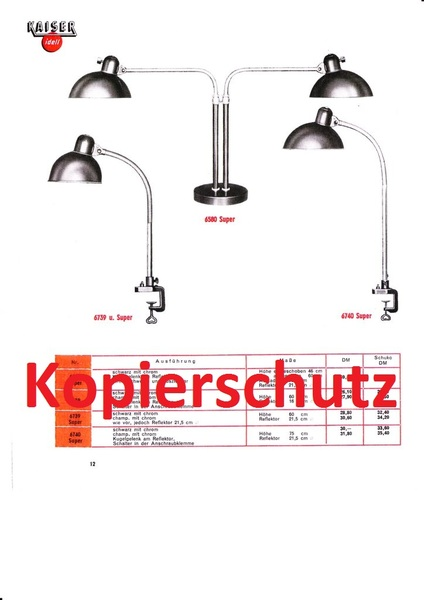 kaiser idell katalog nr 7 catalog lampenkatalog leuchte lampe bauhaus pdf jpeg ebay. Black Bedroom Furniture Sets. Home Design Ideas