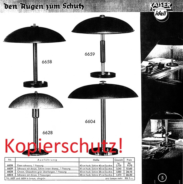 kaiser idell katalog nr 3 catalog lampenkatalog lampe bauhaus christian dell pdf ebay. Black Bedroom Furniture Sets. Home Design Ideas