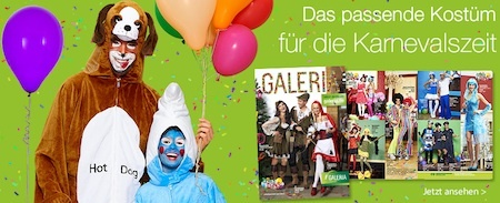 karneval2013 galeria 6ylg0 KARNEVAL2013 Galeria Kaufhof 20% Gutschein auf Karnevalskostme