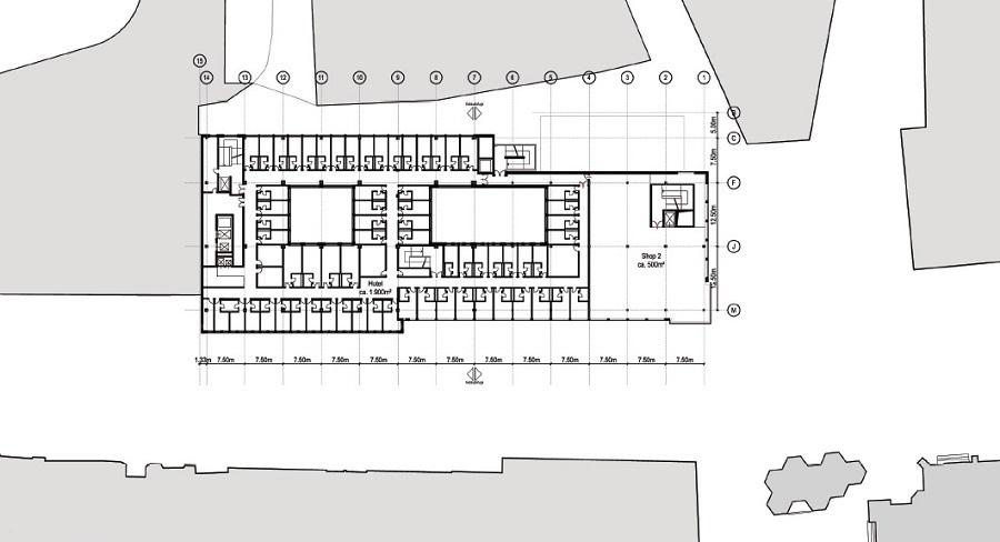133 motel one zimmer grundriss bild fluchtplan zu motel