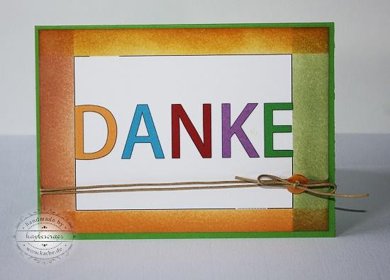 KayBeScraps: DANKE-Karten