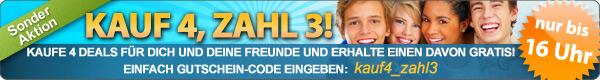 DailyDeal: 4 Deals für 3 Aktion! - 4x 25€ mirapodo Gutscheine für je nur 6,75€! - Schuhe!!