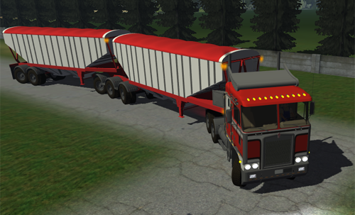 Kenworth K100 + 2 Trailers