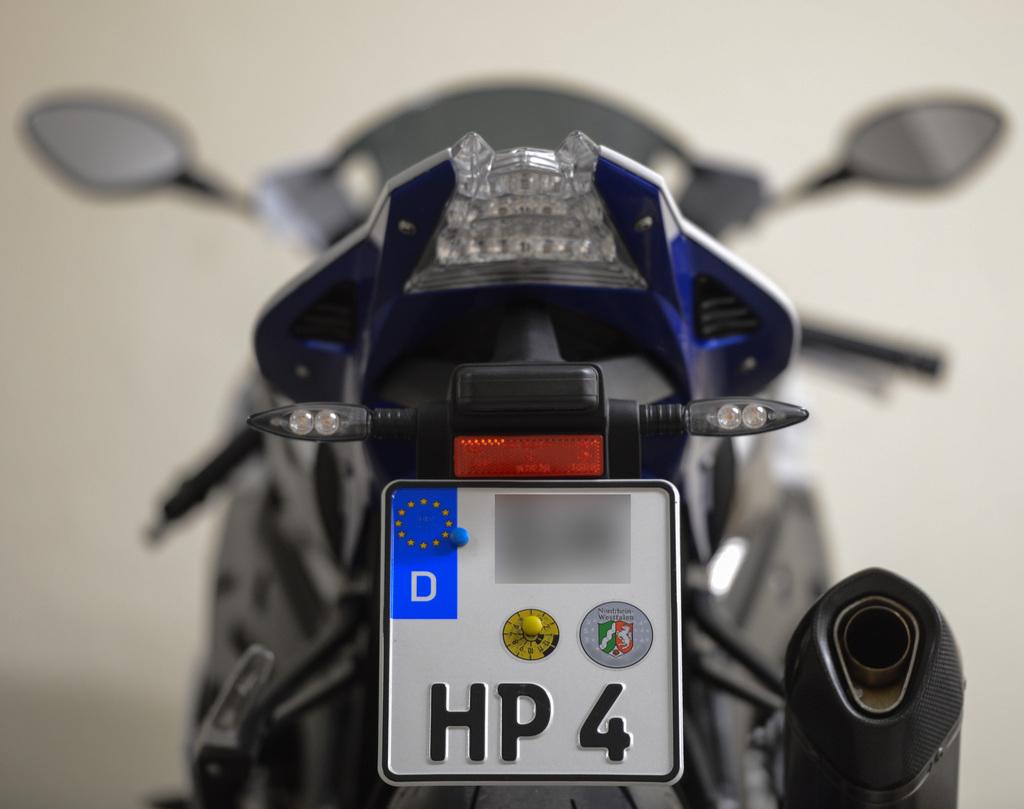 Motorrad Kennzeichenhalter | Fotos