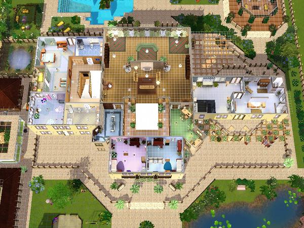 Villa grundriss sims 3  Auftrag - Villa für Großfamilie - Seite 2 - Das große Sims 3 Forum ...