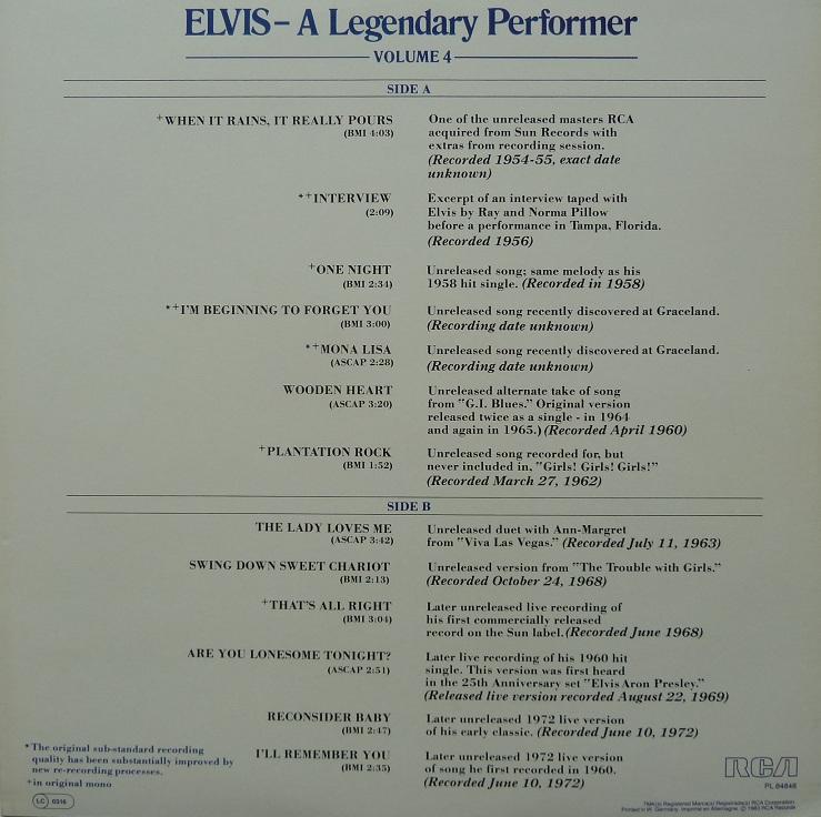 A LEGENDARY PERFORMER - VOLUME 4 Legendaryperfvol483in6qktm
