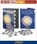 Lindner Sammelalbum für 2 € Münzen + CAPS 10 Jahre WWU