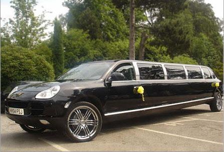 Limousine mit hubschrauberlandeplatz  Verrückte Stretchlimousinen