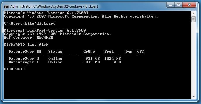 listdisk3jot - [Tutorial] USB-Stick bootbar machen