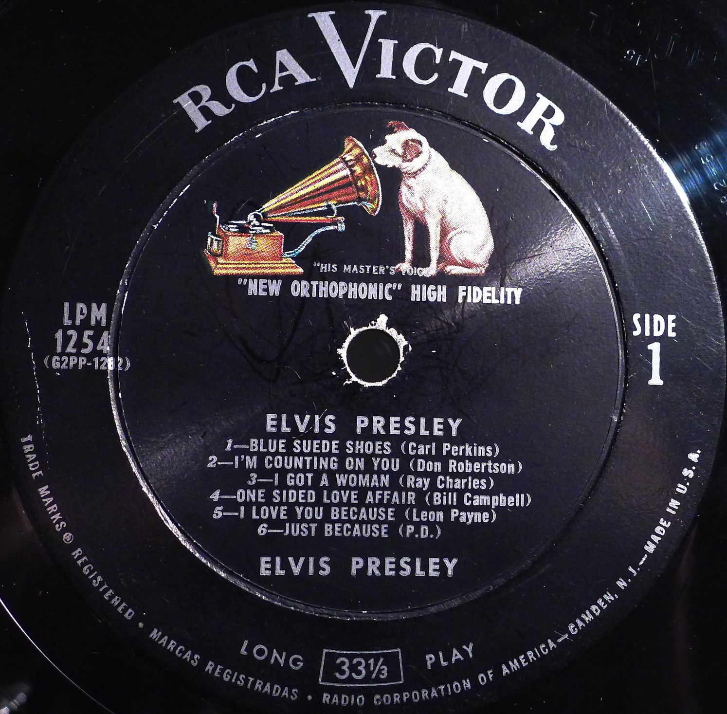 ELVIS PRESLEY Lpm1254c9dp2l