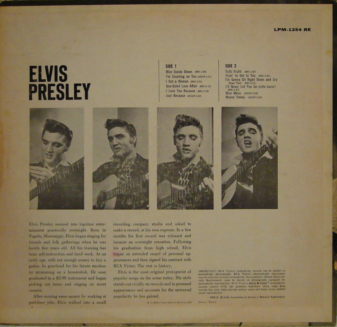 ELVIS PRESLEY Lpm1254rebr8qiq