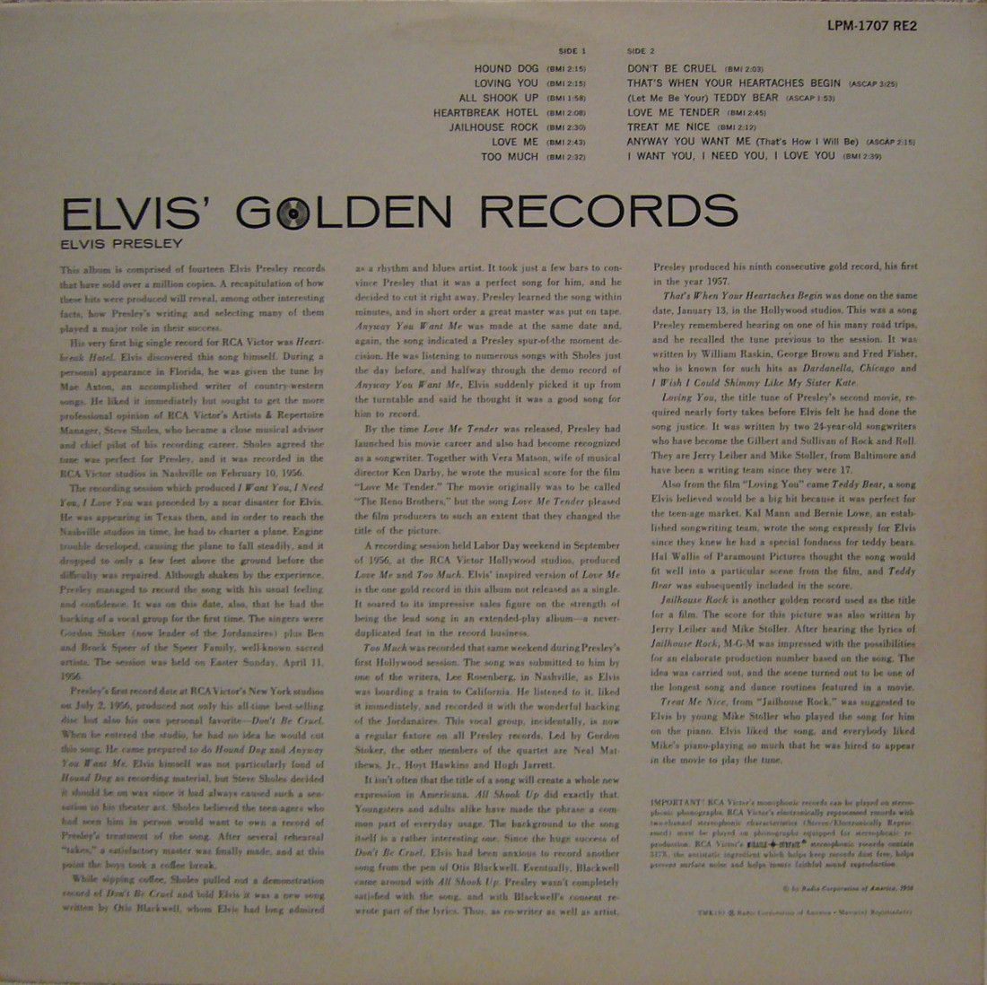 ELVIS' GOLD RECORDS  Lpm1707re2bb1pyt