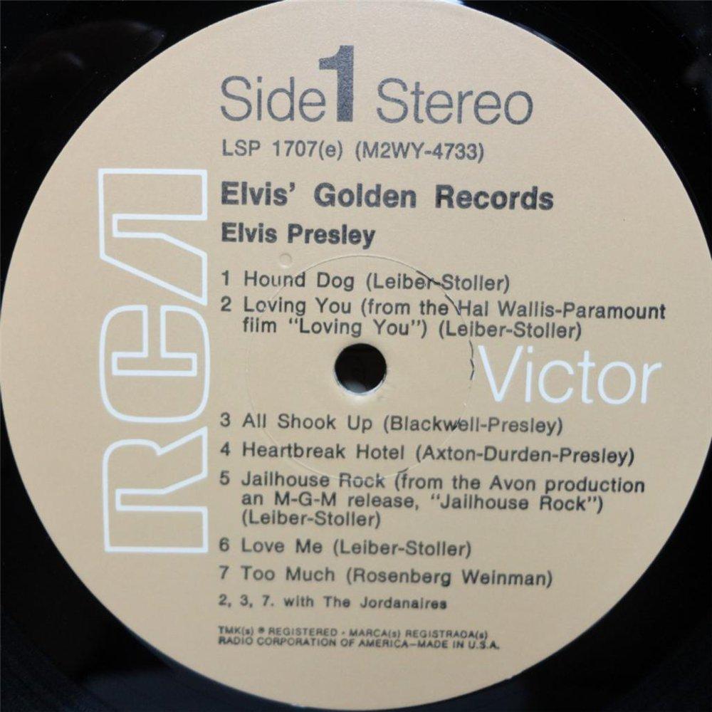 ELVIS' GOLD RECORDS  Lsp1707cmwjhx
