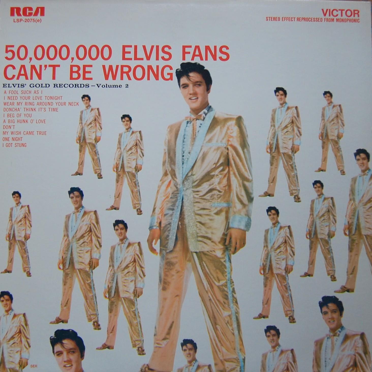 ELVIS' GOLD RECORDS VOL 2 Lsp2075au8qbq