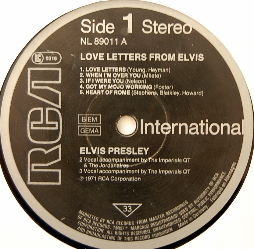 LOVE LETTERS FROM ELVIS Lsp4530-9fppds