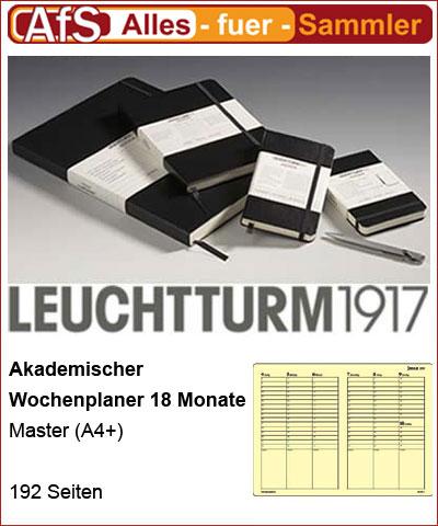 Akademischer Wochenplaner 18 Monate Master (A4+) 2013 Deutsch