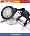 Leuchtturm Klemmlupe für Brillengestell 5 fach Lupe