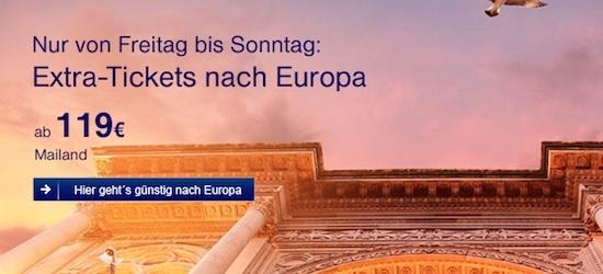 Lufthansa Ticket 119 Euro