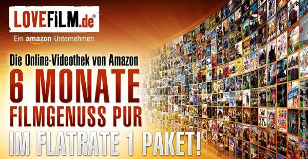 amazon: lovefilm Flatrate 6 Monate für 16,99€ - Online Videothek (DVD/Blu-ray) - für Neukunden!