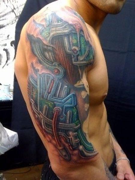 Cyborgowe tatuaże 5