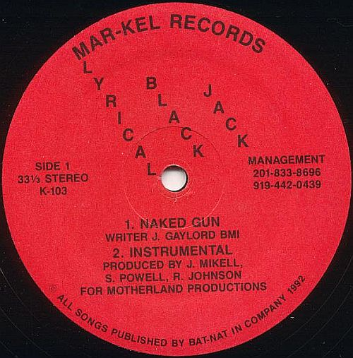 Cover: Lyrical Black Jack - Naked Gun-VLS-1992-CMS