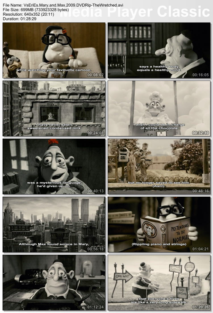 Only Moviez Here - Mary and Max (2009)