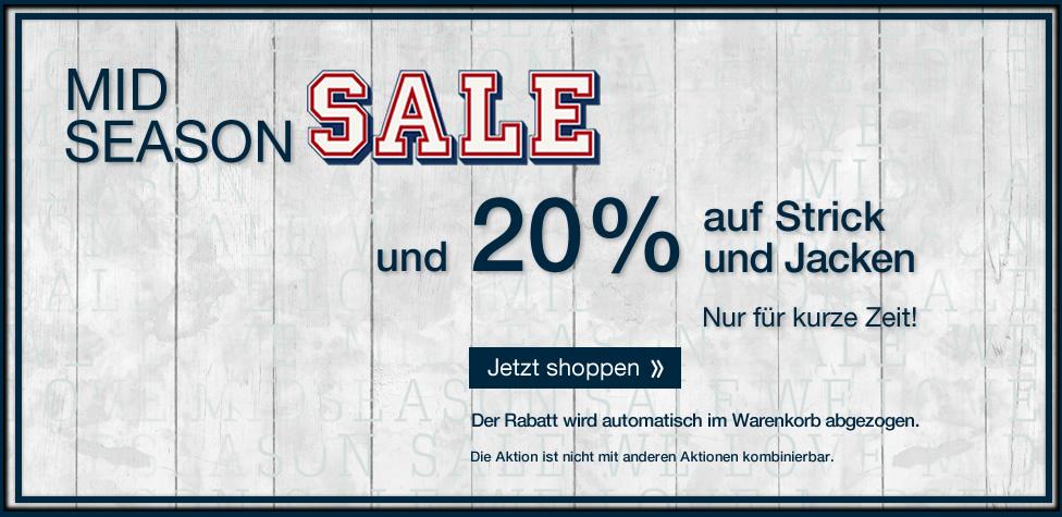 Tom Tailor: Midseason Sale - 20% Rabatt auf Strick und Jacken - effektiv 60% Rabatt!