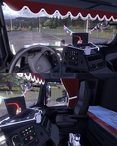 Mercedes Benz Actros interior