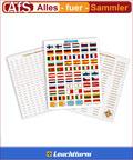 Leuchtturm Sticker Aufkleber Set für Euro Münzen