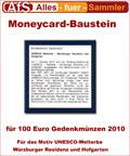 Moneycard Bausteine für 100 Euro Gedenkmünzen 2010