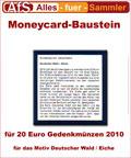 Moneycard Bausteine für 20 Euro Gedenkmünzen 2010