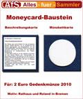 Moneycard Bausteine für 2 Euro Gedenkmünze 2010