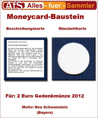 Moneycard Bausteine für 2 Euro Gedenkmünze 2012